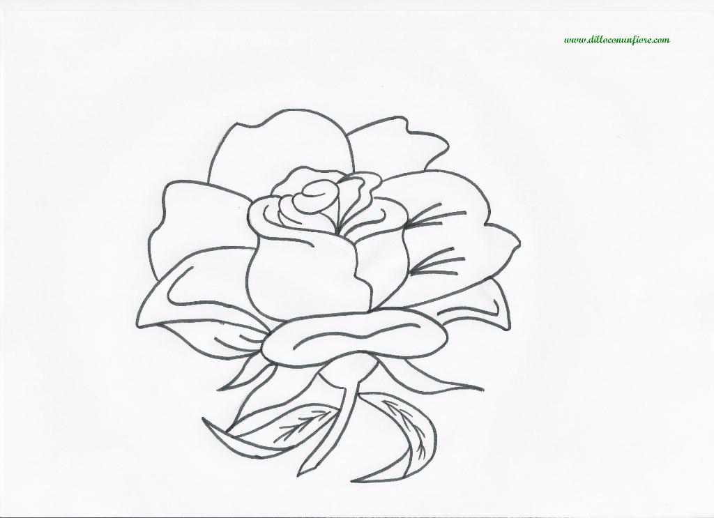 Disegni da colorare e stampare di rose fare di una mosca for Colorare le rose