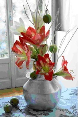 Natale composizioni floreali con i bulbi addobbi - Addobbi natalizi sulla tavola ...